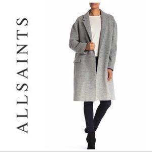All saints Sancia Wool Blend Ombré Coat